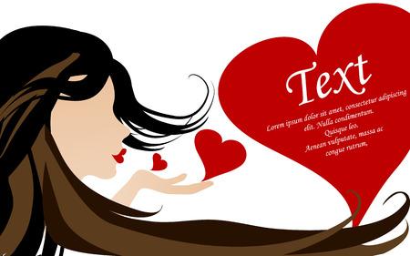 liefde kaart vector illustration Stock Illustratie