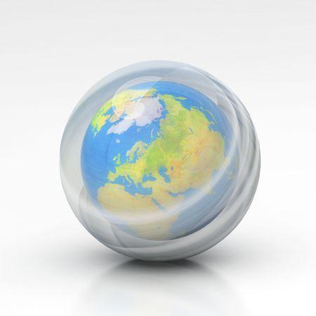 De aarde ozonlaag Stockfoto - 4577122