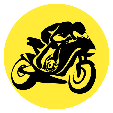 Motorrijwiel racer Stockfoto - 4577123