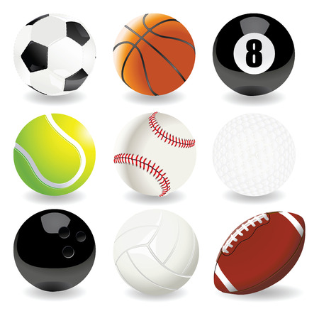 Vector illustratie van de sport ballen