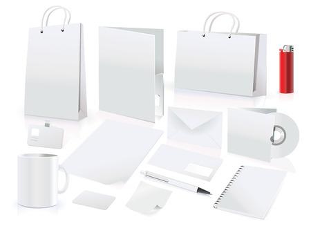 Vector set design elementen voor corporate identity Stockfoto - 4769602