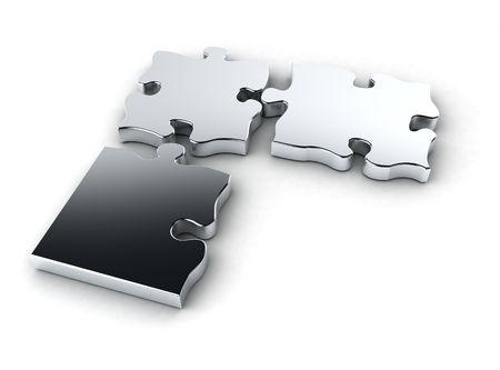 Chrom-puzzle Standard-Bild - 4973644