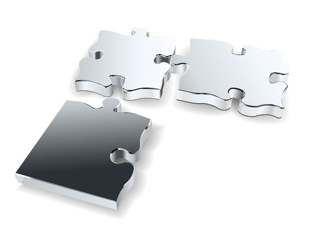three chrome puzzles