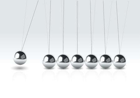 mov: vector illustration balancing balls Newtons cradle Illustration