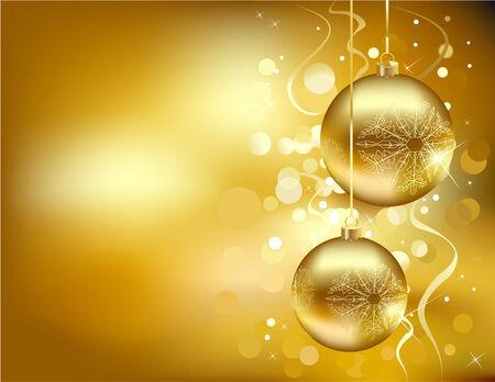 黄金のクリスマスの装飾
