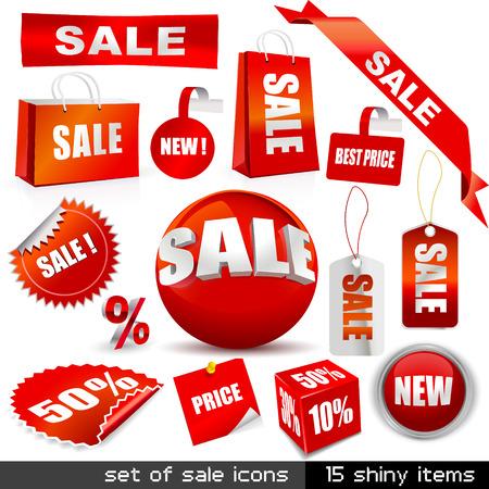 Set van vector verkoop iconen  Stockfoto - 5997784