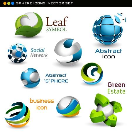 esfera: esferas do vetor
