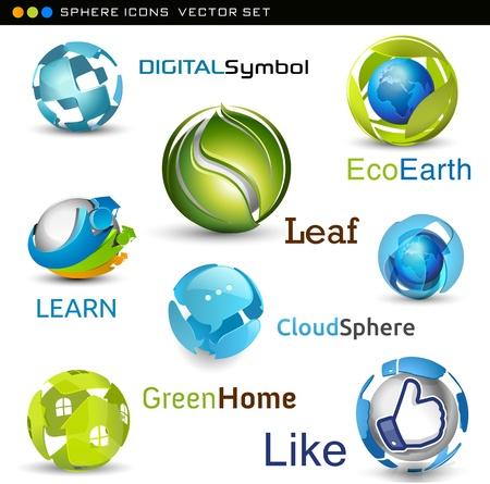 wellness environment: vector spheres
