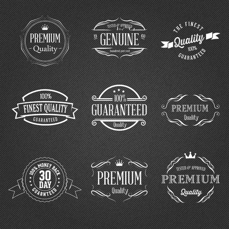 quality badges Vector