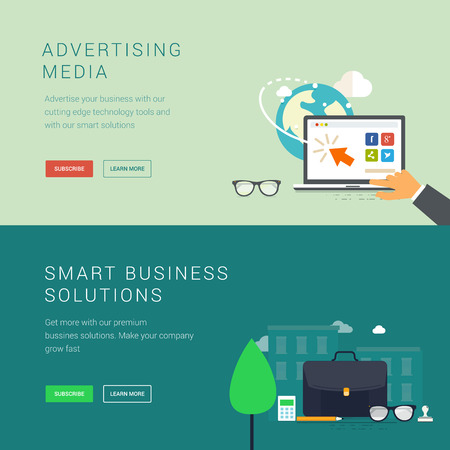 advertising media: Advertising media and smart business solution banners