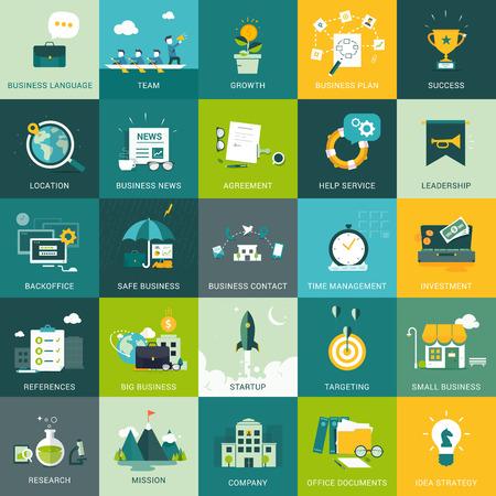 mision: Diseñado Conceptos de Negocios y Marketing planas