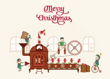Santa`s Factory Illustration
