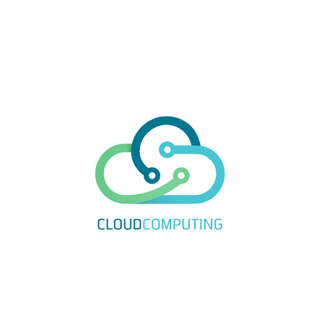Flache Line-Design Web-Banner für Cloud Computing-Services und Technologie, Datenspeicherung. Vektor-Illustration Konzepte für Web-Design, Marketing und Grafik-Design. Standard-Bild - 68893338