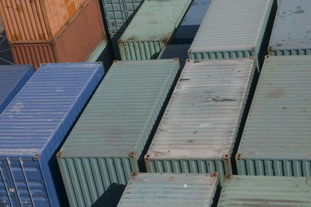shipped: container texture Stock Photo