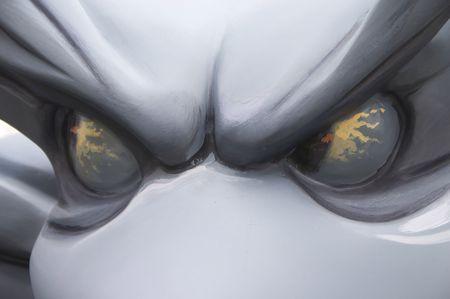 gargouille: gargouille yeux  Banque d'images