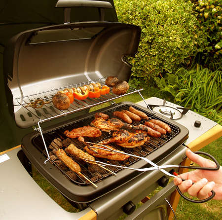 charcoal grill:  Barbeque Stock Photo