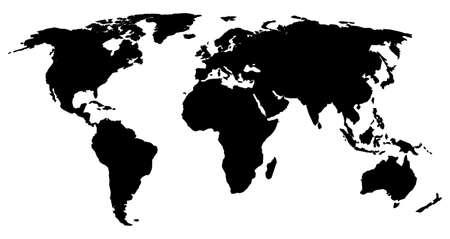 multinational: Silhouette of the World