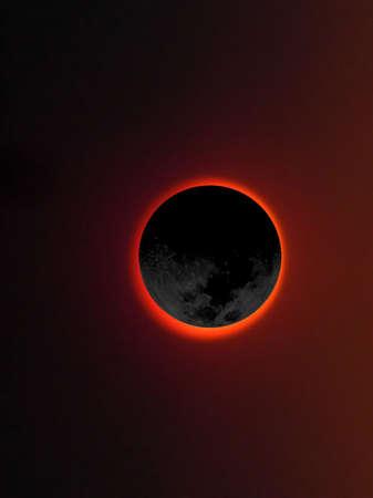 causing: Moon eclipsing the sun causing darkness