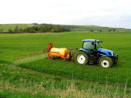 Spraying the Crop Stock Photo