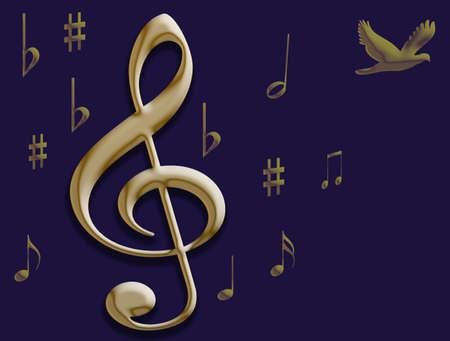 Muziek geeft de duif vleugels