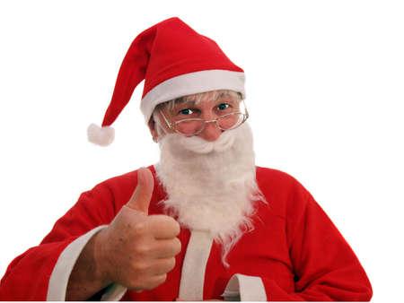 Vader Kerstmis te stemmen met uw verzoek Stockfoto