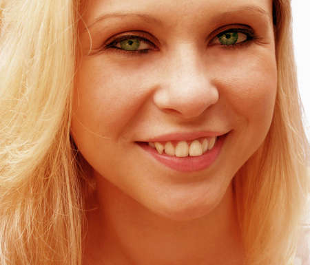 greeneyes: Green eyed Blond Stock Photo