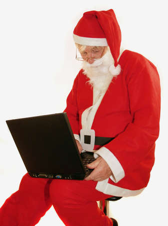 Santa answering all the e-mails         Stock Photo
