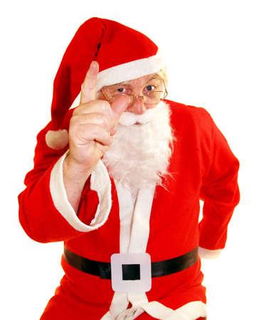 Santa says no you dont Stock Photo