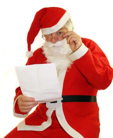 santa clause hat: Santa reading all your letters