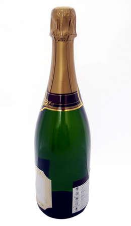 Een fles champagne voor u klaar Stockfoto