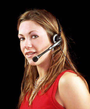 We are waiting for your call lady operator Stock Photo - 720013