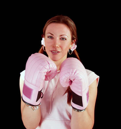 beat women: Lady Boxer working out to keep fit