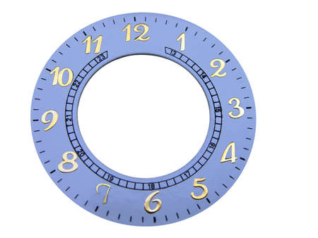 analogue: Genuine clock face for designers to use           Stock Photo