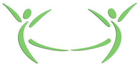 Two people dancing that creates a smile original logo