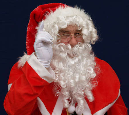 st nick: Santas warning dont drink and drive at christmas
