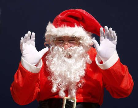 Amazing present for you this christmas says santa        Stock Photo - 2038040