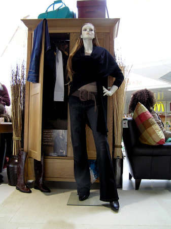 manequin: Manequin showing a young ladys wardrobe