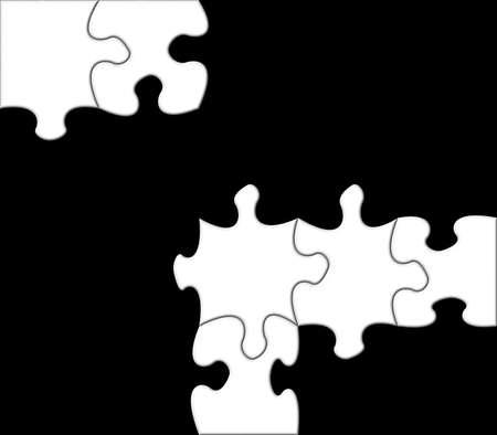 White puzzle on black background powerful metaphor Stock Photo - 2167252