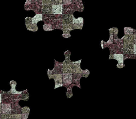 Difficult puzzle showing coulored bricks Metaphor Stock Photo - 2167257