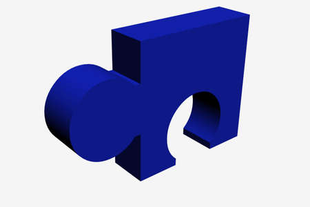 Blue 3d puzzle ideal for design work