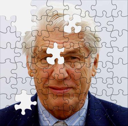 Jigsaw zaken man onvolledig kunt u de ontbrekende stukjes bieden?