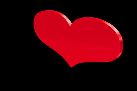 Heart in red sign of love and Wealth Stock Photo - 2205966