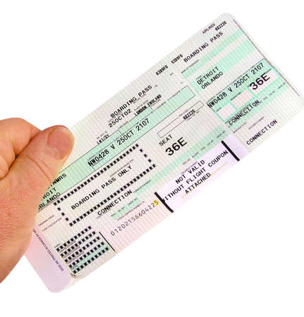 Boarding Pass making a good topical picture  Stock Photo