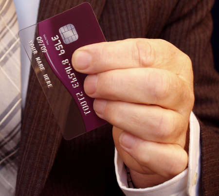 Businessman getting your instant attention with his card        Stock Photo - 2309869