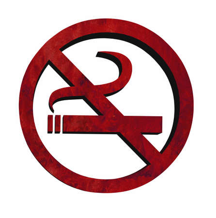 abstain: 3D No smoking sign in grunge colours