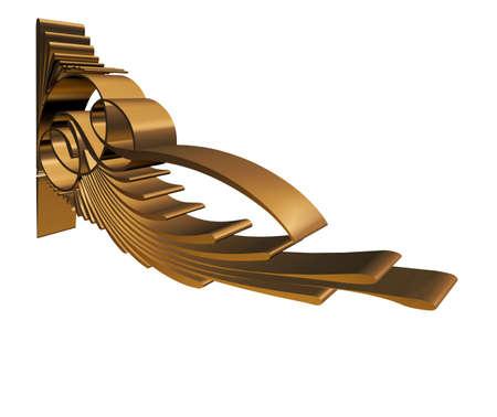 bracket: Modern design of a victorian bracket in 3D Unique Stock Photo