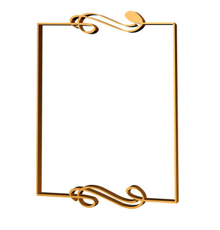 Art deco frame with a musical motif