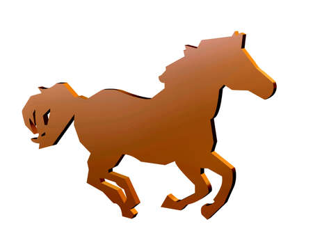 Horse sign for racing and equestrian events photo