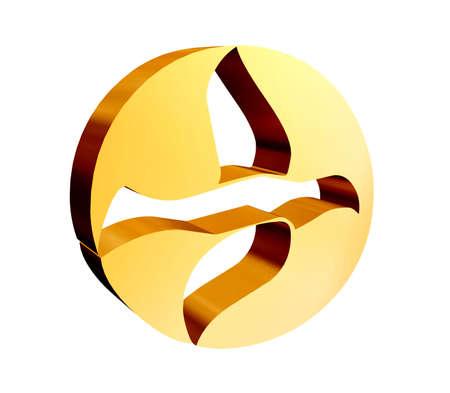 Vredesduif in 3D en goud
