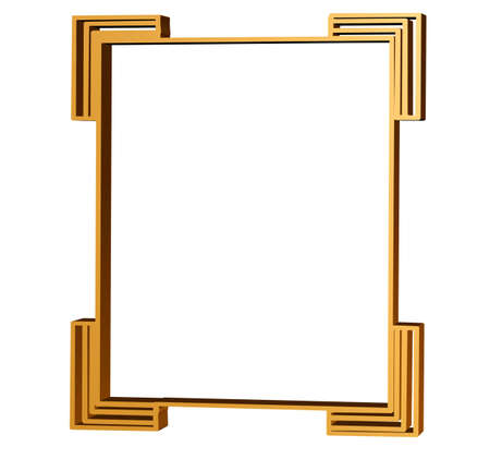 artdeco: Clean lines of an art deco frame in 3D